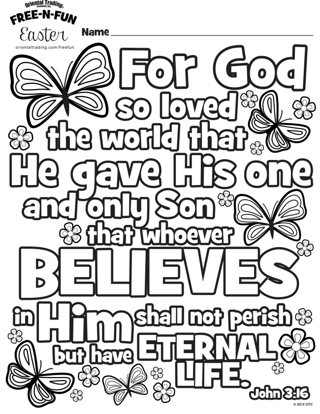 Religious Coloring Page